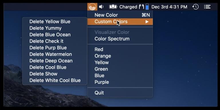 delete custom colors