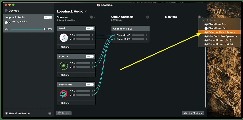 Loopback add output