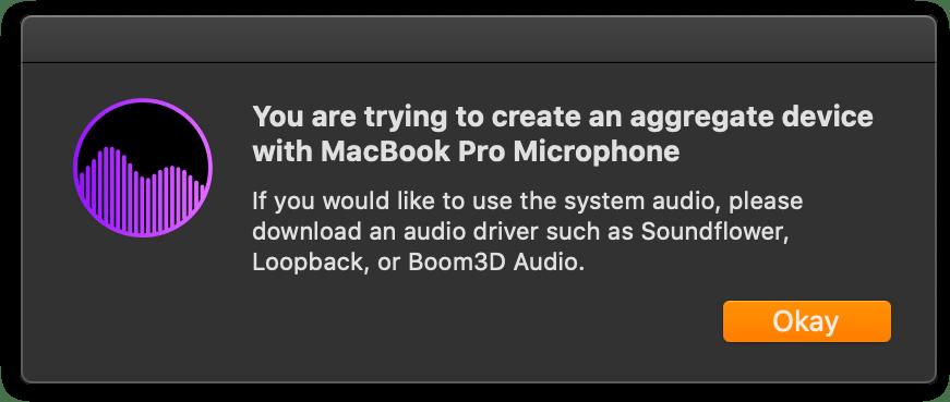Microphone warning